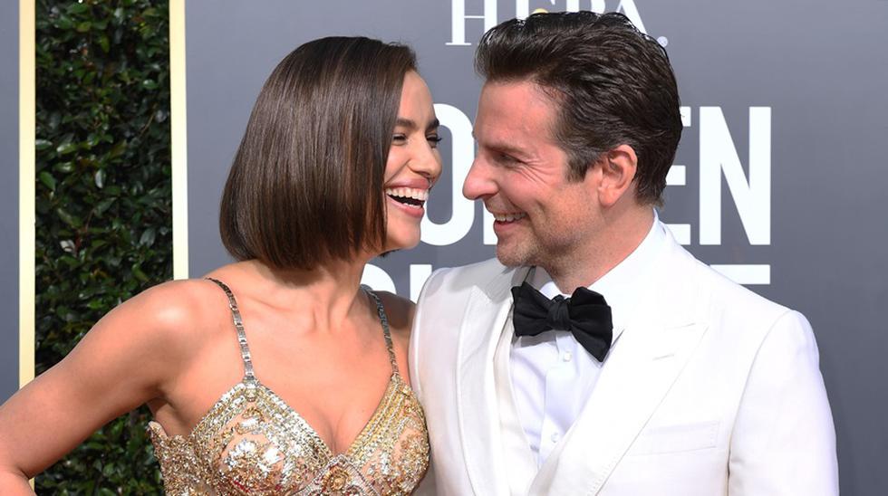Bradley Cooper junto a Irina Shayk en la alfombra roja de los Globos de Oro 2019.