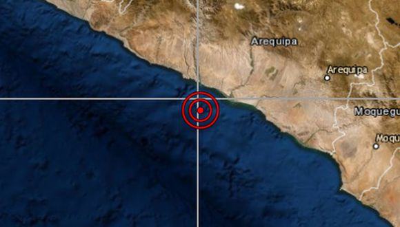 El epicentro de este movimiento telúrico se ubicó a 13 kilómetros al norte del distrito de Ocoña. (Referencial/IGP)