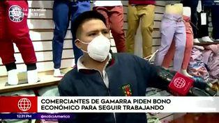 Gremio de confeccionistas de Gamarra piden bono económico para seguir trabajando