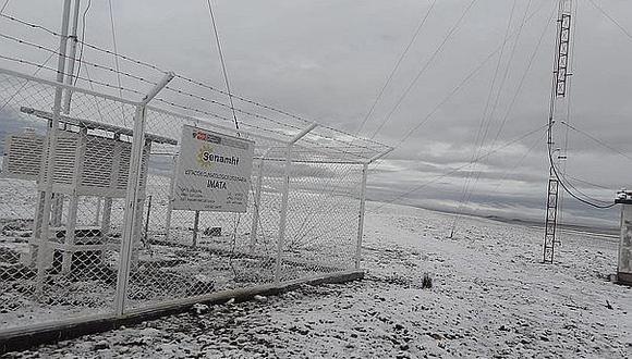 Se registrará granizada de forma aislada, principalmente en localidades por encima de los 3000 m.s.n.m. y nevada sobre los 4200 m.s.n.m. (Foto: Senamhi)