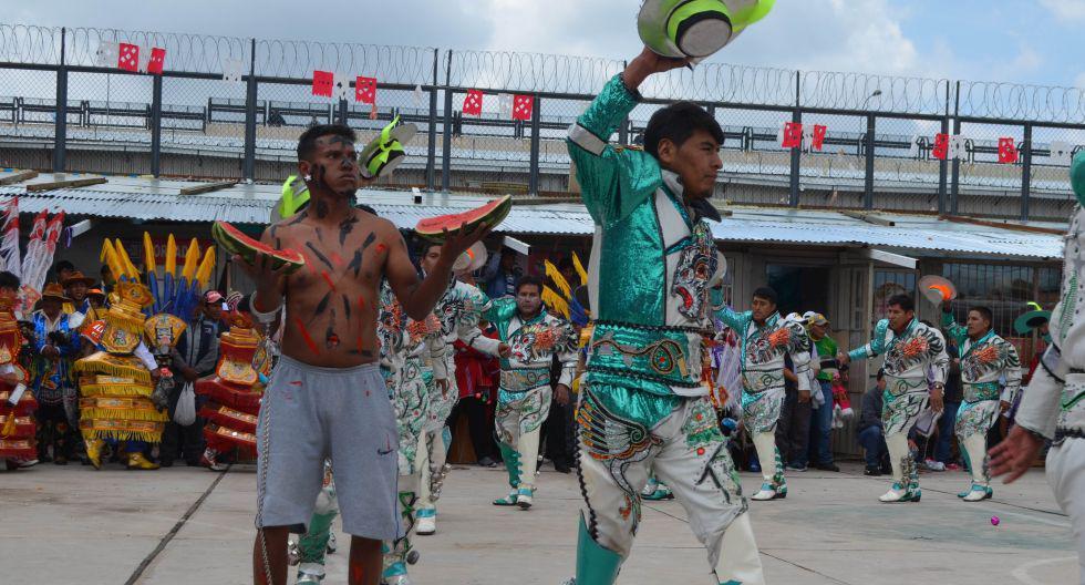 Internos del penal de Puno realizaron un concurso de danzas por la Fiesta de la Candelaria. (Foto: Carlos Fernández Baca)
