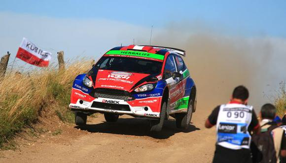 Nicolás Fuchs marcha décimo en el Rally Polonia