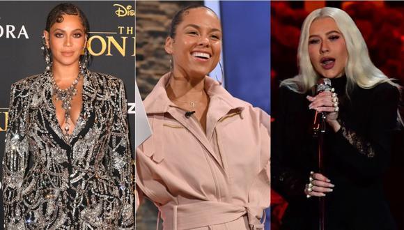 Beyoncé, Alicia Keys y Christina Aguilera rinden tributo a Kobe Bryant. (Foto: AFP)