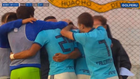 Sporting Cristal vs. Deportivo Municipal: así fue el gol de Cristian Palacios. (Video: Gol Perú / Foto: Captura de pantalla)