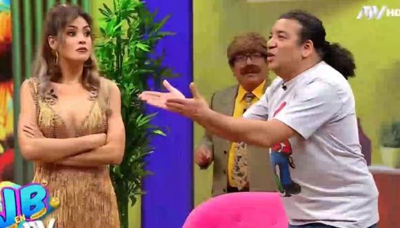 """Micheille Soifer y Carlos Vílchez se jugaron fuertes bromas en sketch de """"JB en ATV"""". (Foto: Captura ATV)."""