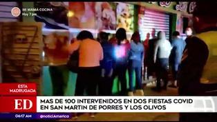 PNP interviene a más de 100 personas en locales de Los Olivos y San Martin de Porres
