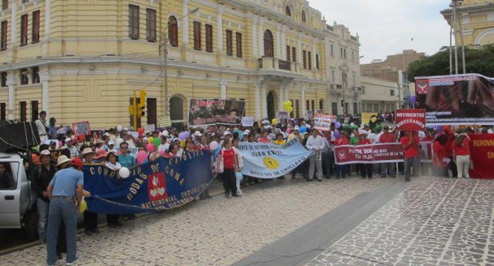 Chiclayo: cientos salieron a marchar contra trata de personas