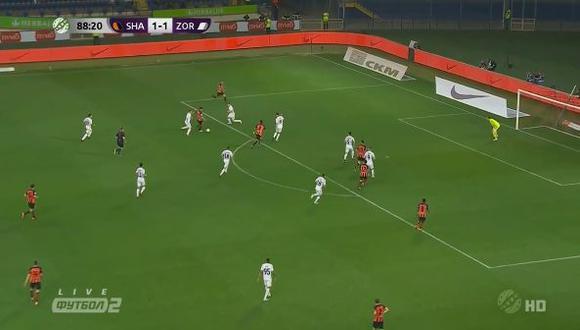 El brasileño Jaison un magnífico gol que le dio el triunfo a Shakhtar Donetsk ante Zorya por la Liga de Ucrania. El video ya es viral es YouTube. (Foto: captura)