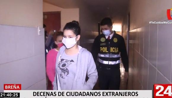En el hotel Urubamba de Breña se intervino a más de 60 extranjeros. (24 Horas)