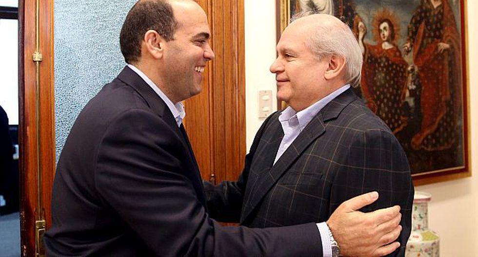 Fernando Zavala y Pedro Cateriano se reunieron hoy en la PCM