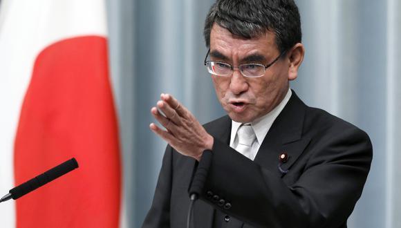 """Anteriormente, Kono había ya anunciado la decisión del Gobierno de Tokio de expresar su """"claro apoyo al presidente interino Guaidó"""". (Foto: EFE)"""