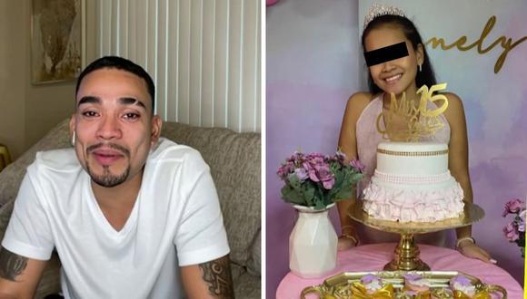 Josimar se quebró en vivo por perderse los 15 años de su hija mayor, pero tuvo que salir del país para trabajar. (Foto: Captura América TV).