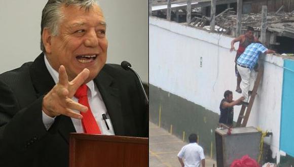 Así ingresó Malzón Urbina al ex mercado de La Parada