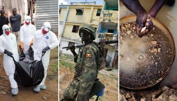 Tres países castigados por guerras, el ébola y la indiferencia