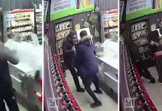 Vendedor y cliente se vuelven viral por frustrar asalto con una silla y spray pimienta