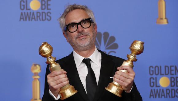 """Alfonso Cuarón ganó dos Globos de Oro por la mejor película extranjera y al mejor director gracias a """"Roma""""."""