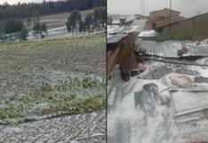 Áncash: fuertes lluvias y granizo afectan viviendas, cultivos y sistema de desagüe