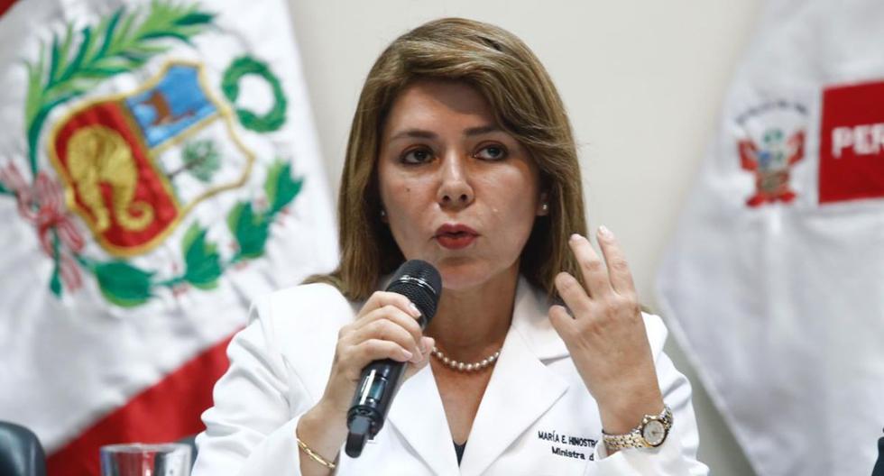 """La ministra de Salud, Elizabeth Hinostroza, también informó que el sacerdote que ingresó grave al hospital por coronavirus se encuentra con """"pronóstico reservado"""". (Foto: GEC)"""