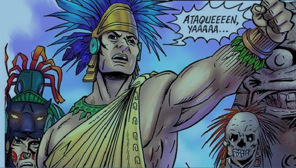 Un cómic recién publicado narra la vida de Cuitláhuac. (Foto: CORTESÍA ALCALDÍA DE IZTAPALAPA, vía BBC Mundo).