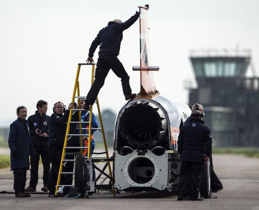Bloodhound iba a usar un grupo de tres motores Nucleus además del jet Eurofighter EJ200. (Foto: Getty Images)