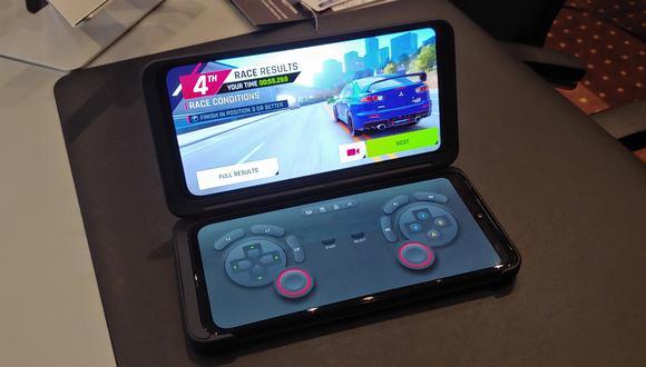 LG G8 ThinQ. La firma surcoreana reafirma su apuesta por los videojuegos con este nuevo celular doble pantalla presentado en la feria IFA Berlín 2019. (Foto: Martín Tumay Soto / El Comercio)