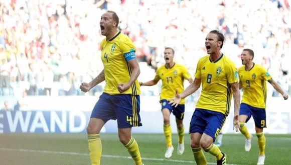 Suecia superó por la mínima diferencia a Corea del Sur en el Estadio de Nizhni Nóvgorod por la primera fecha del Grupo F. El capitán Andreas Granqvist anotó de penal. (Foto: AFP)