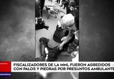 Mesa Redonda: fiscalizadores fueron agredidos por presuntos ambulantes