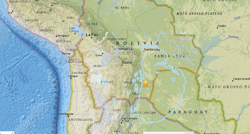 Bolivia: Terremoto de magnitud 6,9 sacude Tarija.