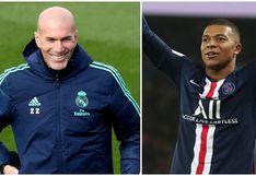 """Zidane y el guiño a Mbappé: """"Sé que su sueño es jugar un día en el Real Madrid"""""""