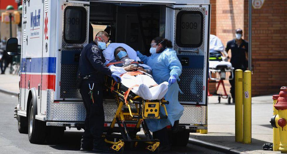Coronavirus en Estados Unidos | Ultimas noticias | Último minuto: reporte de infectados y muertos martes 7 de abril del 2020 | Covid-19 | Un paciente es ingresado al Wyckoff Hospital de Brooklyn. (AFP / Bryan R. Smith).