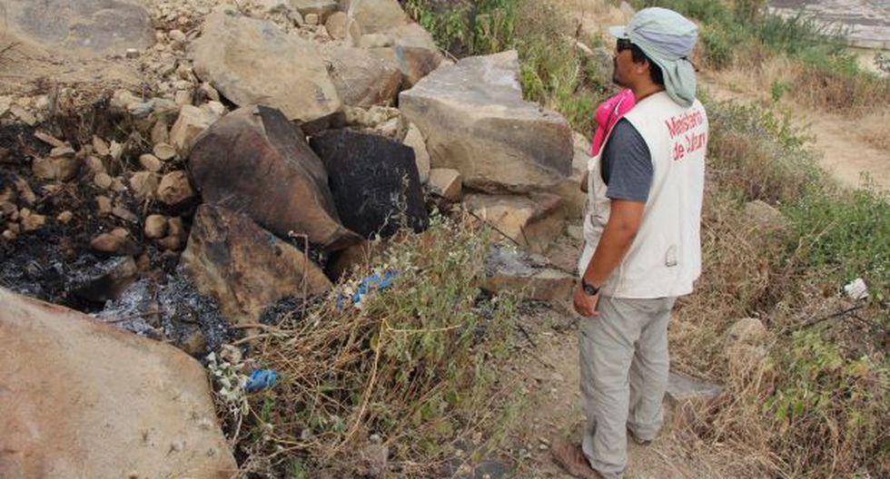 Lambayeque: invasores dañaron petroglifos de cerro Racarrumi - 1