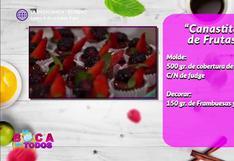 Canastitas de frutas: receta fácil y saludable
