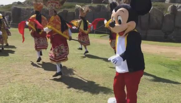 Facebook: Mickey Mouse celebró su aniversario danzando en Cusco