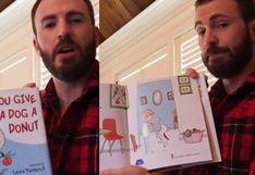 Chris Evans se suma a noble campaña y lee cuentos infantiles a niños durante la cuarentena