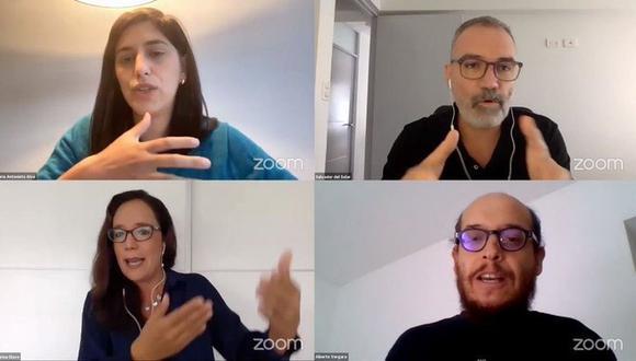 María Antonieta Alva, Salvador del Solar, Marisa Glave y Alberto Vergara, fueron convocados por Steven Levitsky para comentar lo que nos espera tras la primera vuelta. (Foto: Twitter)