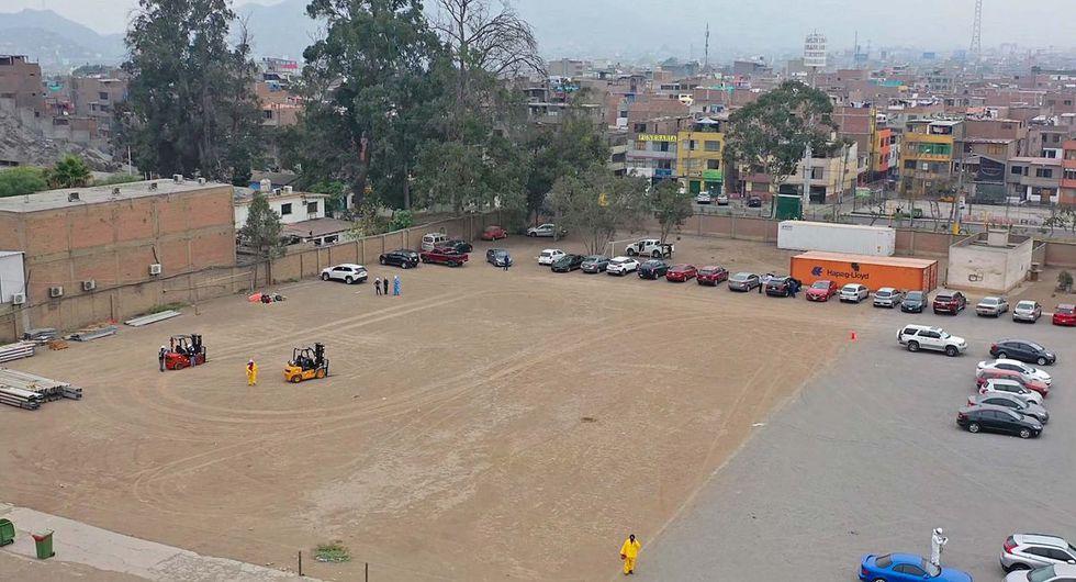 El Centro de Atención y Aislamiento Covid-19 fue construido en un espacio del hospital Nacional Hipólito Unanue.   (Proyecto Legado Lima 2019)