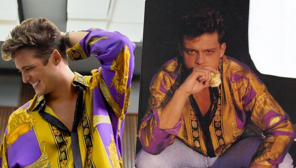 """""""Luis Miguel, la serie"""" presenta varios momentos de la vida del 'Sol' de México. Contrastamos en esta nota qué tan ciertos son. A la izquierda: Diego Boneta, a la derecha Luis Miguel con su famosa camisa Versace."""