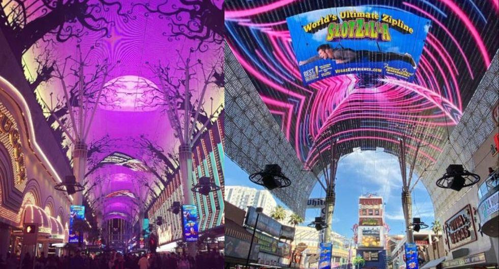 Fremont Street Experience. Esta famosa calle y uno de los grandes atractivos turísticos de Las Vegas desde el 12 de diciembre exhibirá su majestuoso árbol de 15 metros que estará envuelto en guirnaldas y adornos, emplazándose bajo el techo Viva Vision de 12,5 millones de luces LED. (Foto: Instagram)
