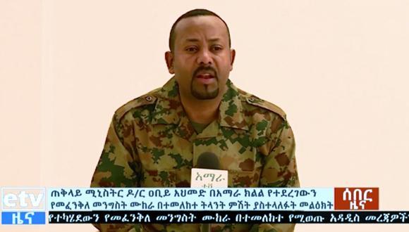 El primer ministro de Etiopía, Abiy Ahmed, declaró la guerra a la región de Tigray, al norte del país. (AP)