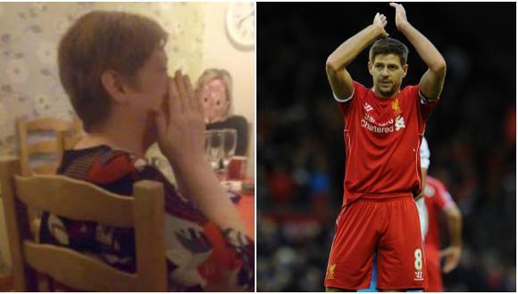 Steven Gerrard: hincha llora su salida del Liverpool
