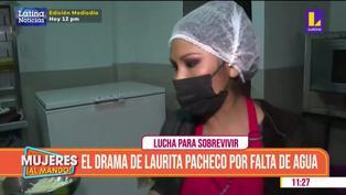 """Laurita Pacheco preocupada por corte de agua en SJL: """"Espero que esto pase pronto"""""""