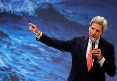 """Kerry compromete a EE.UU. en la """"obligación moral"""" de la lucha climática"""