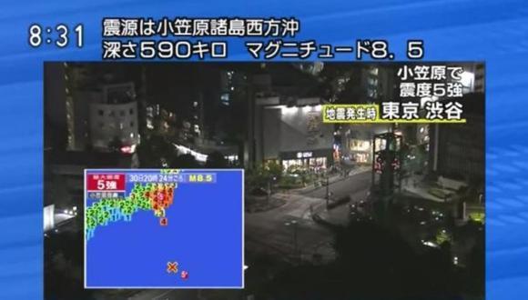Japón: Terremoto submarino de 8,5 grados sacudió Tokio