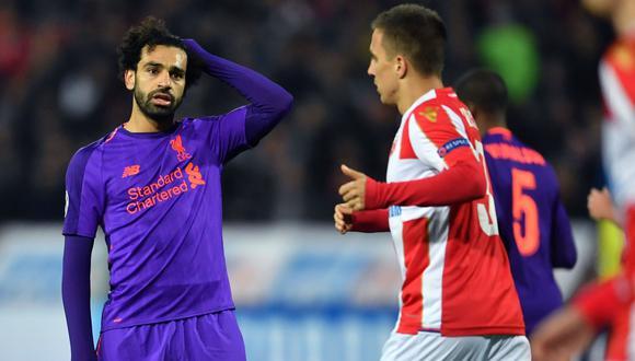 Liverpool cayó 2-0 ante Estrella Roja en Belgrado por Champions League   VIDEO. (Foto: AFP)