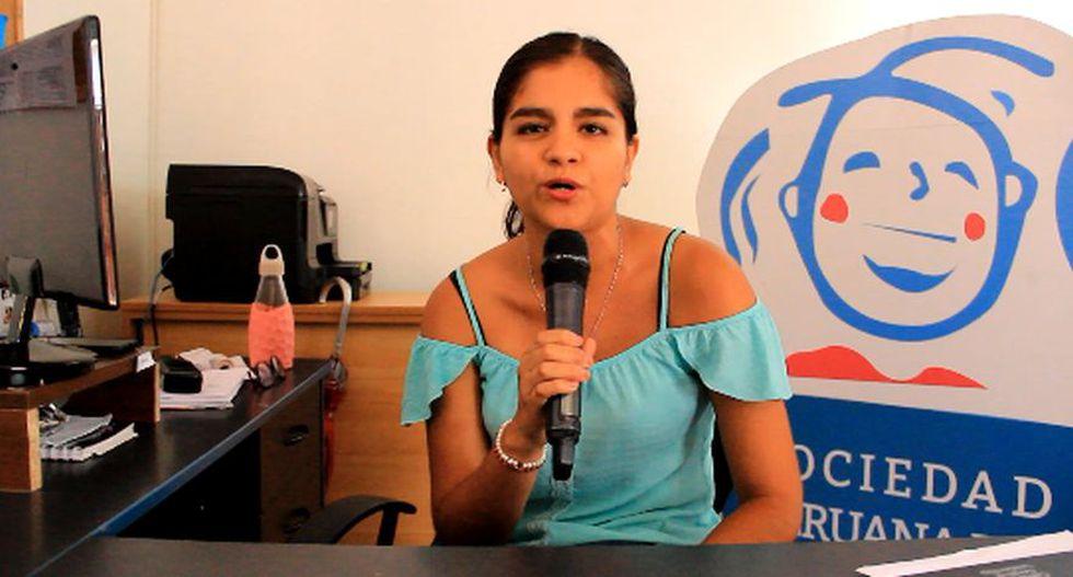 Katherine Britto, psicóloga educativa del área de educación inclusiva de la SPSD. (Captura)