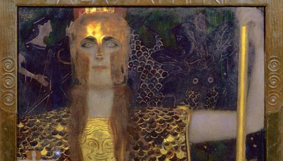 Atenea, la diosa de la guerra, la civilización, sabiduría, de las ciencias, de la justicia y de la habilidad... ¿sería ella la que abrió esa ventana al mundo de los dioses? (Palas Atenea, 1898, de Gustav Klimt 1862-1918) (Foto: Getty)