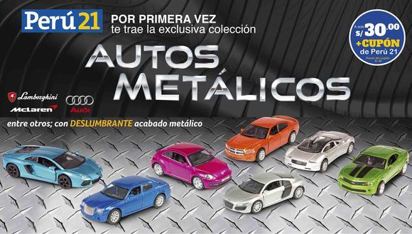 Autos metálicos: carrocería con pintura de alto brillo
