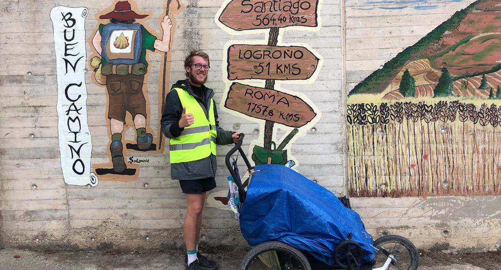 Nicolò Guarrera, de 28 28 años, un buen día decidió dejar un trabajo seguro en una multinacional para coger las maletas y recorrer el planeta andando. (Foto: archivo personal)