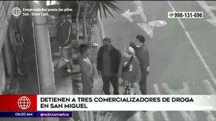 San Miguel: Policía captura a tres comercializadores de droga