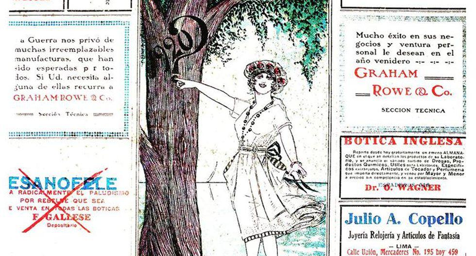 Bienvenidos a los años 20. La portada de El Comercio del 1 de enero de 1920, hace un siglo. (Fuente: Archivo Histórico de El Comercio).